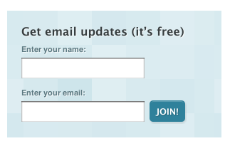 Sign Up Form to Collect Email Addresses