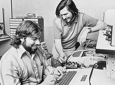 Steve Jobs and Woz