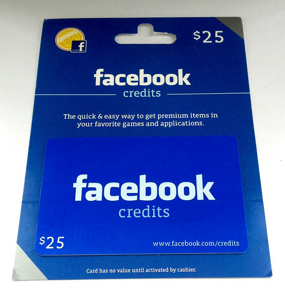 Facebook Credits at Walmart